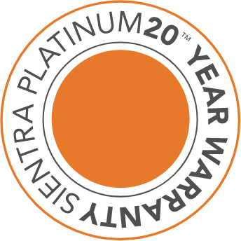 Sientra Platinum 20-Year Warranty badge