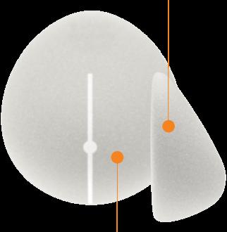 Teardrop Shape Gel Implants
